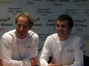 Michel Desjoyeaux et Corentin Horeau dans la prochaine Transat AG2R