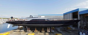 The Perini Navi Group launched the sloop Perseus³, the second yacht in their 60m series