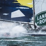 Image licensed to Lloyd Images The Extreme Sailing Series 2015 Act 7. Istanbul. Turkey. Red Bull Racing Team skippered by Roman Hagara (AUT) with crew Hans-Peter Steinacher (AUT), Lionel Vacher (SUI), Stewart Dobson (GBR) and bowman Shaun Mason (GBR)