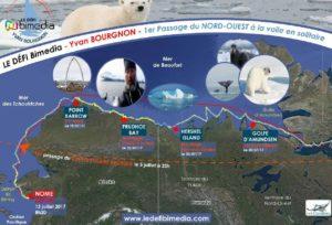 DEFI BIMEDIA – Première Mondiale : Yvan Bourgnon signe le 1er passage du Nord-Ouest, à la voile, en solitaire