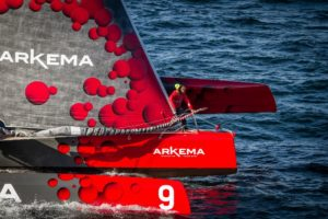 Route du Rhum – Destinbation Guadeloupe 2018 :  A hectic first 24 hours as the fleet heads west and as the storm looms