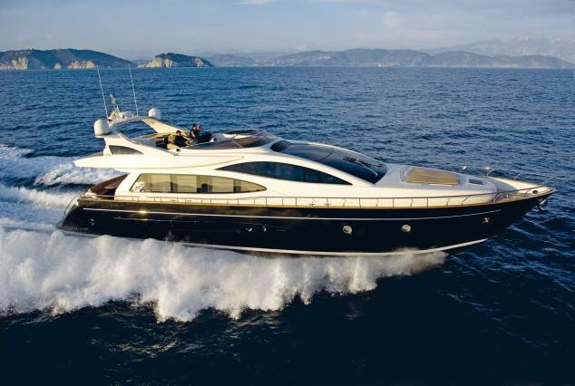 ... yachts made from more recent materials, like this luxury 75-foot Venere ...