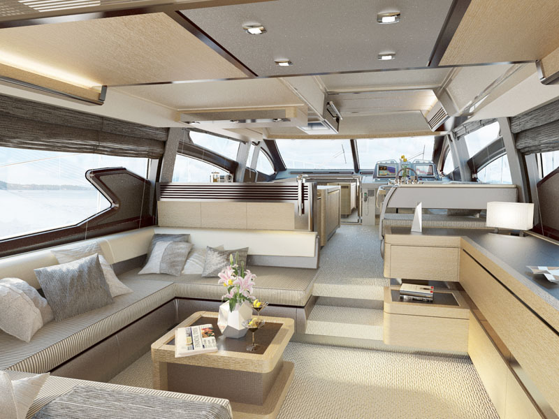 Nauticnews blog archive l azimut 64 fly ne perd pas le for Interieur yacht