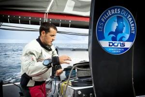 Christopher Pratt, lauréat des Filières du Talent DCNS, au départ de la Route du Rhum