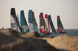 Extreme Sailing Series: Warming up in Muscat