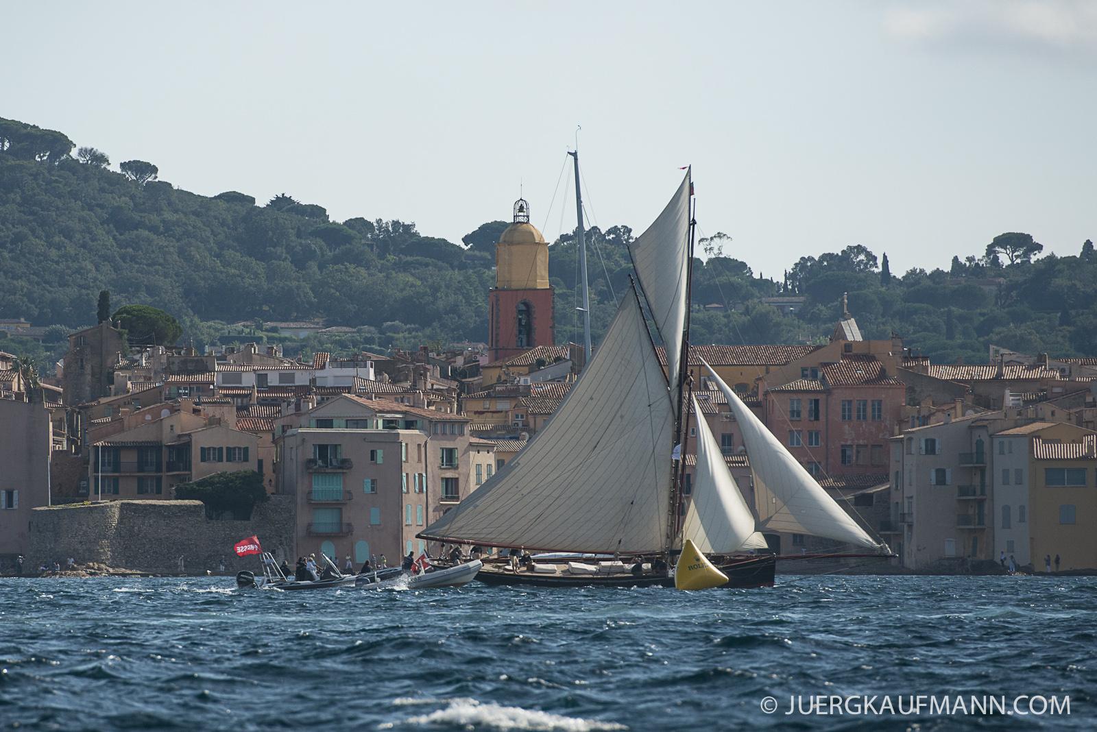 Les Voiles de St Tropez à mi-course