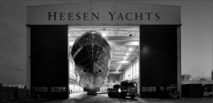 Heesen Yachts – Project Azuro: hull and superstructure joined together