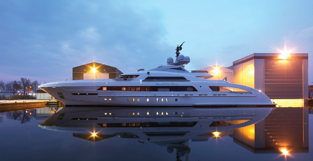 Heesen Yachts launched 65 meters fast displacement yacht Galactica Star