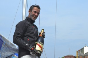 Solitaire du Figaro : Armel Le Cléac'h, Morgan Lagravière et Anthony Marchand, le podium de Gijón