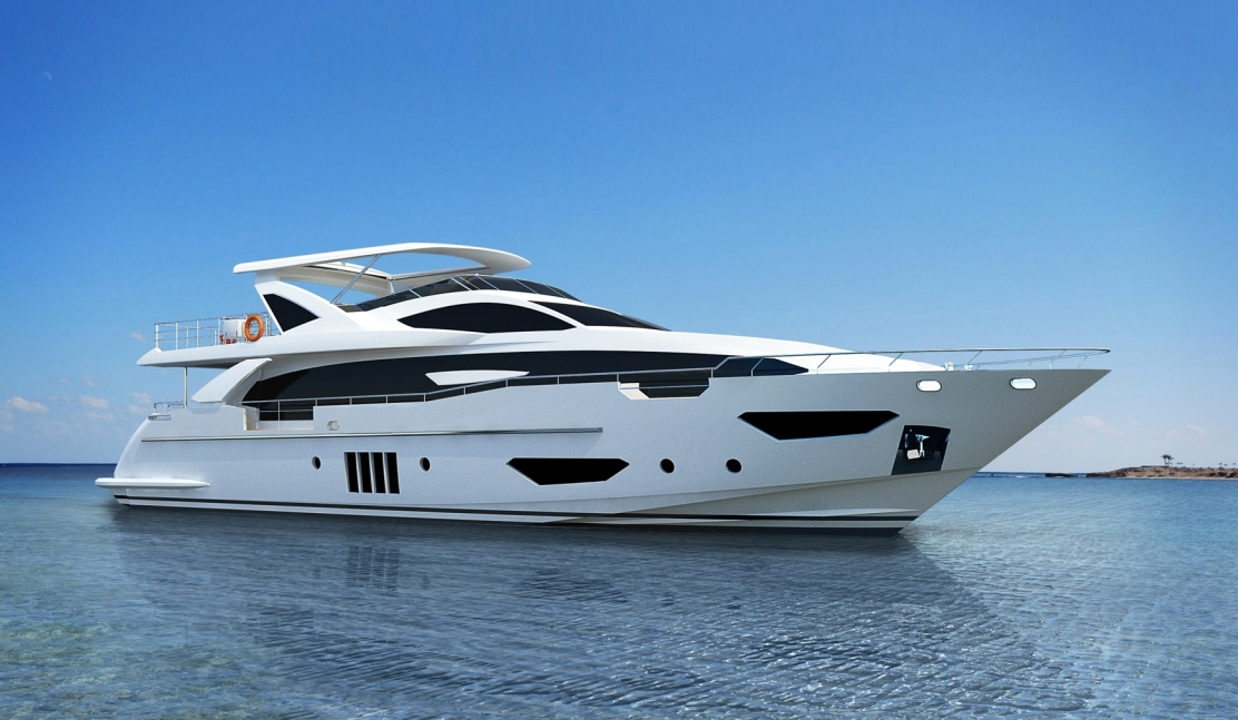 Azimut Grande 95RPH : a new raised pilot house in 2014