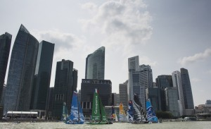 Extreme Sailing Series : Realstone throw down the gauntlet on opening day