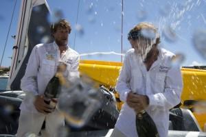 Transat AG2R – LA MONDIALE : Safran Guy Cotten, Skipper Macif, 30 Corsaires, La Cornouaille, interviews à l'arrivée