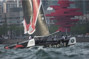 Swiss dominate as Alinghi and Realteam lead the charge ahead of the final Extreme Sailing Series Qingdao showdown