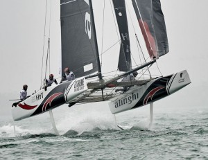 Extreme Sailing Series 2016 : Alinghi snatch first win of the season in sensational climax to Act 2 Qingdao