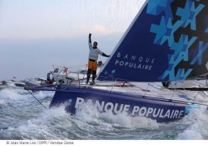 Armel Le Cléac'h sur Banque Populaire VIII : vainqueur du Vendée Globe 2016-2017