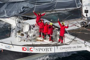 Maxi Trimaran IDEC SPORT wins the Jules Verne Trophy