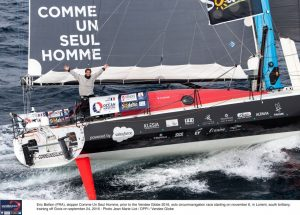 Vendée Globe : Arrivée d'Eric Bellion, 1er bizuth