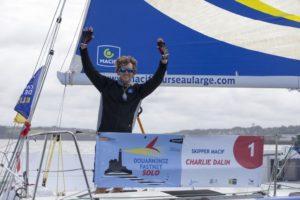 Charlie Dalin, Skipper Macif 2015, vainqueur de la Douarnenez Fastnet Solo