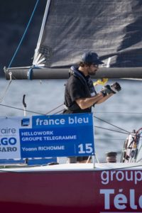 Solitaire URGO Le Figaro : Yoann Richomme premier sur la ligne d'arrivée de la première étape
