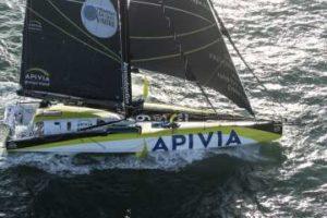 Apivia, vainqueur de la Transat Jacques Vabre Normandie Le Havre en IMOCA
